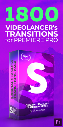 Hot transitions pack for Premiere Pro (by Videolancer)
