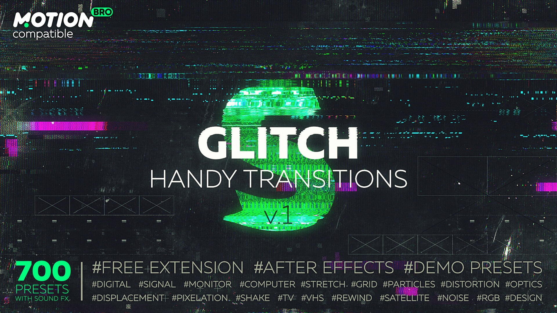Glitch Handy Transitions – VIDEOLANCER
