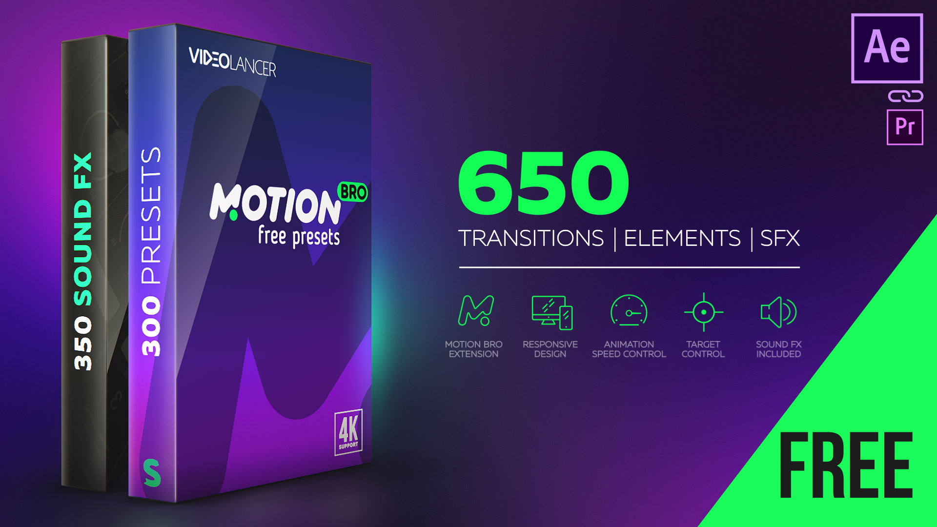 Free Presets Pack for Motion Bro – VIDEOLANCER